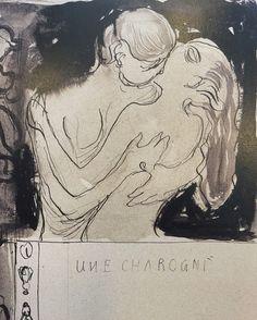 "kundst: "" Edvard Munch (Nor. 1873-1944) Une Charogne (1893) Illustration for les Fleurs du Mal (detail) Pencil and Ink on paper (23 x 26 cm) """