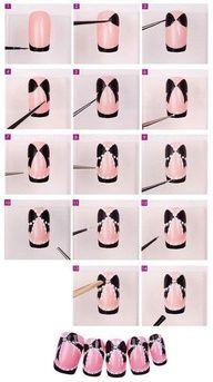 Pink/Black nail tutorial