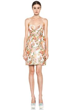 Stella McCartney|Floral Jacquard Dress in Coral [1]