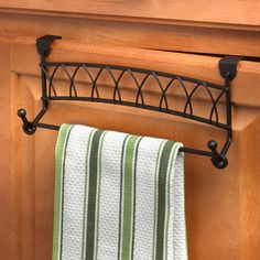 Hang A Towel From Any Drawer Or Cabinet Door In Seconds The Elegant Scrolling Hanger Instantly Converts Into Secure