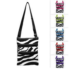 Cross Body Bags for Teens   New Stylish Zebra Print Teen Bag Cross Body Messenger Hipster Bag