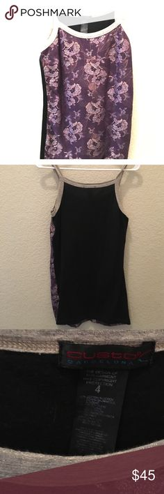 Custo Barcelona Tank This fun tank is a gorgeous purple overlay with hints of iridescent metallic thread.  Bought at a boutique and has been worn once Custo Barcelona Tops Tank Tops