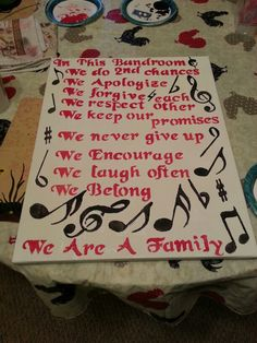 My canvas that I did for my band director as a goodbye gift