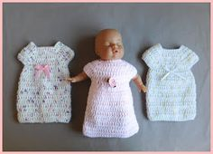 I promised you all a crochet Angel Gown - hope you like it.   Please check their suitability with the charity groups you like to support.   ...