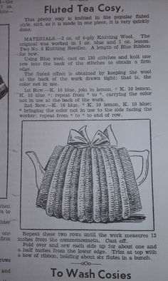 Craft a cure for cancer free tea cosy pattern: Vintage tea cosy patterns Tea Cosy Knitting Pattern, Tea Cosy Pattern, Knitting Wool, Knitting Patterns Free, Knit Patterns, Knitting Tutorials, Knit Cowl, Free Knitting, Clothing Patterns