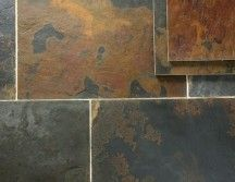 Rustic Multicolour Slate Tiles Floors
