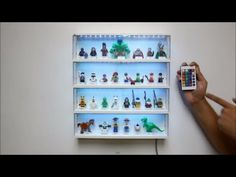 ▶ How to add 5050 RGB LED Light Strip to Lego Minifigure Display Case w RBG Controller - YouTube