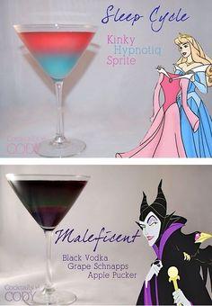 Disney Themed Cocktails // Sleeping Beauty