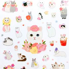 Jetoy choo choo cat sweet deco stickers in animal friends. Cute Paintings, Animal Paintings, Animal Drawings, Cat Lover Gifts, Cat Gifts, Cat Lovers, Kawaii Stickers, Cat Stickers, Beautiful Horse Pictures