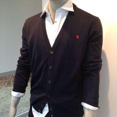 marineblauwe cardigan Blazer, Sweaters, Jackets, Men, Fashion, Down Jackets, Moda, Fashion Styles, Blazers