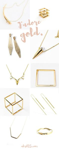 Can't get enough of simple, minimalist gold jewelry... delicate rings, necklaces, geometric bracelets... <3 https://abril25.com/collections/minimalist-gold-jewelry