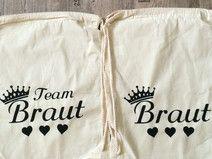 Turnbeutel Team Braut bedruckt JGA Rucksack