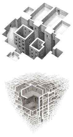Negative Space Illustrations by Matthew Borett | Inspiration Grid