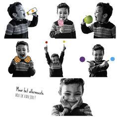 Ik hou van fruitsap Ik hou van snoepjes Ik hou van appels Ik hou van koekjes Ik hou van rood en geel Ik hou van paars en blauw Maar het allermeeste hou ik van jou!