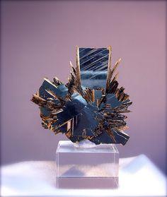 Rutile crystals on Hematite...