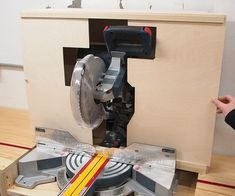 Miter Saw Dust Collection : 8 Steps (with Pictures) - Instructables Mitre Saw Dust Collection, Shop Dust Collection, Woodworking Projects Diy, Wood Projects, Woodworking Tools, Energy Projects, Dust Deputy, Mitre Saw Station, Build A Farmhouse Table