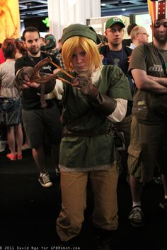 Female Link cosplay at Penny Arcade Expo 2011, photo by David Ngo (DTJAAAAM)