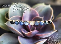 Fine Gemstone Sapphire Bracelet - Sapphire Rondelles in Ombre Winter Colors Wire Wrapped in 14K Gold Fill  Available at: http://ift.tt/2gPWnxs  I selected sapphire stones according to color and size to create this beautiful modern take on a classic timeless look. From the cool white center stone to the iconic vivid sapphire blue to the deep midnight blue so dark it almost looks black - these sapphires are just gorgeous. These sapphires have delicate intersecting needles of rutile…