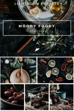 Moody Foody Insta-Theme Lightroom Presets for your Instagram Theme | The Moody Foody Insta-Theme Preset collection is created to give your food and recipe a moody sophisticated finish to appeal to your audience. This is great for food photographers and food bloggers. #lightroom #moodygrams #mood #food #foodblogger #vsco #foodphotography #vscocam #vscofilters