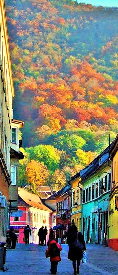 Braşov a city from Transylvania, Rumania. Brasov unites gothic, baroque and…