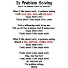 Make problem solving fun by teaching your students the steps to problem solving: Read, plan, solve, and look back.  It also introduces the four mat...