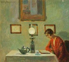 Poul Friis Nybo ~ Woman Reading, 1929 ~ (Danish: 1869-1929)