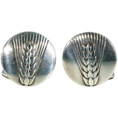 Vintage Georg Jensen Wheat Sheaf Silver Cufflinks Vintage Silver Jewelry, Antique Jewelry, Vintage Cartier Watch, Sterling Ruby, Modern Essentials, Diamonds And Gold, Art Deco Ring, Vintage Diamond, Extra Mile