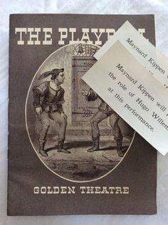 1935 Playbill Golden Theater Rain from Heaven NYC 1930s Vtg Ads Lupus | eBay