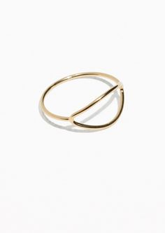 & Other Stories Open Oval Ring in Gold