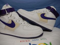 best authentic 88c6a 83df6 1998 DS Nike Air Force 1 High Mesh White Purple Leather SC OG AF1 Vtg Shoes  rare #Nike #BasketballShoes