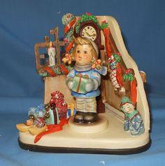 GOEBEL HUMMEL MUSICAL HUMMELSCAPE CHRISTMAS TIME MUSICAL & GIRL FIGURINE COA MIB in | eBay