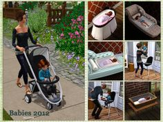 This little Set is combined out of a request for the Bassinet and the Rockingchair (inspired by Potterybarn)and a modern Stroller and Highchair, a Bassinet in a washingbasket and a Pillow which can. The Sims 4 Pc, Sims Four, My Sims, Mods Sims 3, The Sims 4 Bebes, Sims 4 Pets, Sims 3 Cc Finds, Muebles Sims 4 Cc, Pelo Sims