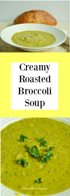 THE FALL SEASON IS FINALLY HERE! WHY NOT COZY UP WITH A WARM CUP OF THIS NATURALLY GLUTEN-FREE AND VEGETARIAN CREAMY ROASTED BROCCOLI SOUP? Healthy Recipes | Vegan recipes | Gluten-free | Dairy-free | Nut-free | Quick Dinners | Healthy Soup | Broccoli | Almond Milk