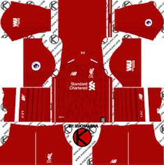New Red Pepper Dream League Soccer Kits Liverpool 2018-19  dce6c6f55