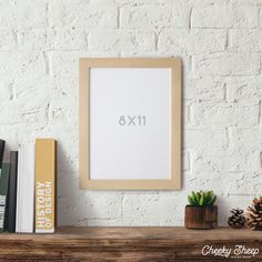 8x11 Unfinished Wood Frame Glass & Backing Craft Frame Art Frame Wood Frame Pine frame Picture frame Art frame Home decor Rustic Modern