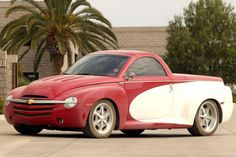 The Chevy SSR is a popular pick-up truck that was manufactured sometime between 2003 and The car was based on the long wheel base platform of Chevy Trail Blazer EXT Chevy Ssr, Chevrolet Malibu, Chevrolet Chevelle, Chevrolet Silverado, Chevy Trucks, Car Key Replacement, Singer Vehicle Design, Automobile, Bonneville