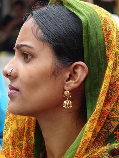 Indian Beauty by kalsang82, via Flickr. A nice reference for Hooria...