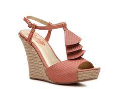 DSW Seychelles How Do You Do Striped Wedge Sandal