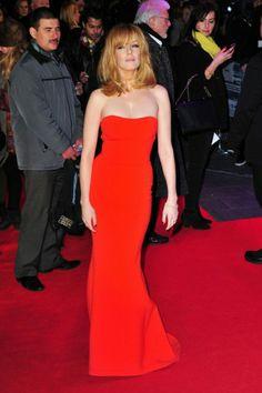 Kelly Reilly Strapless Mermaid Formal Dress 'Flight' London Premiere