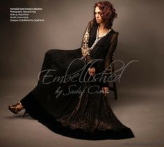 Embellished By Sadaf Amir Collection For Girls Pinned by Zartashia Latest Fashion Trends, Fashion Tips, Pakistani Dresses, Traditional Dresses, Designer Collection, Indian, Formal, Stitches, Model