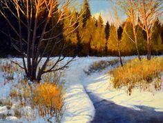 Winter's Last Light by Cyril Cox, Oil on Panel, Painting | Koyman Galleries