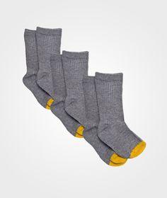 Socks (3-Pack) Grey Melange