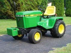 Vintage John Deere 332  Restored Lawn and Garden Tractor