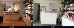 """Maeva Beauté - 91 -  Transformation de l'espace accueil, vente, attente client et la création d'un """"Bar à Ongles"""" dans une ambiance contemporaine"""