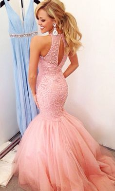 mermaid prom dress...but I am actually am fonder of the blue one in the background!