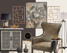 A elegant mood board that could be yours when you check out our new E-Design program @patrickstreetinteriors.  We have 5 curated packages available - one of them could be right for you!  Sent via @planoly #planoly @patrickstreetinteriors #interiordesign #frederickmd #getitdowntown #design #farrowandball #finepaintsofeurope #paint #windowtreatments  #furniture #homedecor #rugs #wallpaper #edesign #homeinspiration Fine Paints Of Europe, E Design, Interior Design, Wingback Chair, Window Treatments, Accent Chairs, Mood, Elegant, Rugs