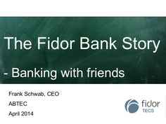 There is a need to change the relationship between customer and banks! Banking hast to fit in the digital livestyle! Fidor is a good example! #banking #digitalbanking #fidor