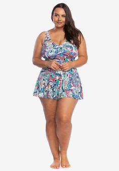 483f7283fb Miraclesuit Plus Aurora One Piece   To buy?   Swim dress, Swim shop ...