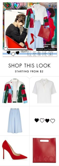 """""""Untitled #1674"""" by anarita11 ❤ liked on Polyvore featuring Canvas by Lands' End, Sandro, Yumi, Gucci and John Hardy"""