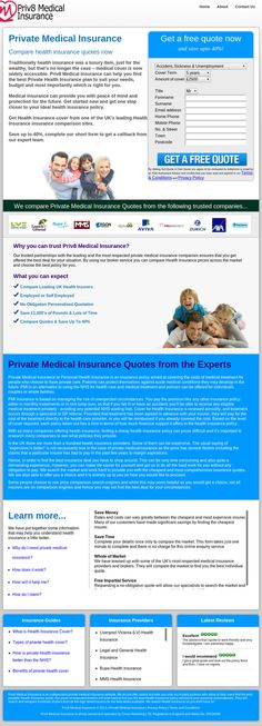 Private Medical Insurance Quotes - PHP only lead generation website
